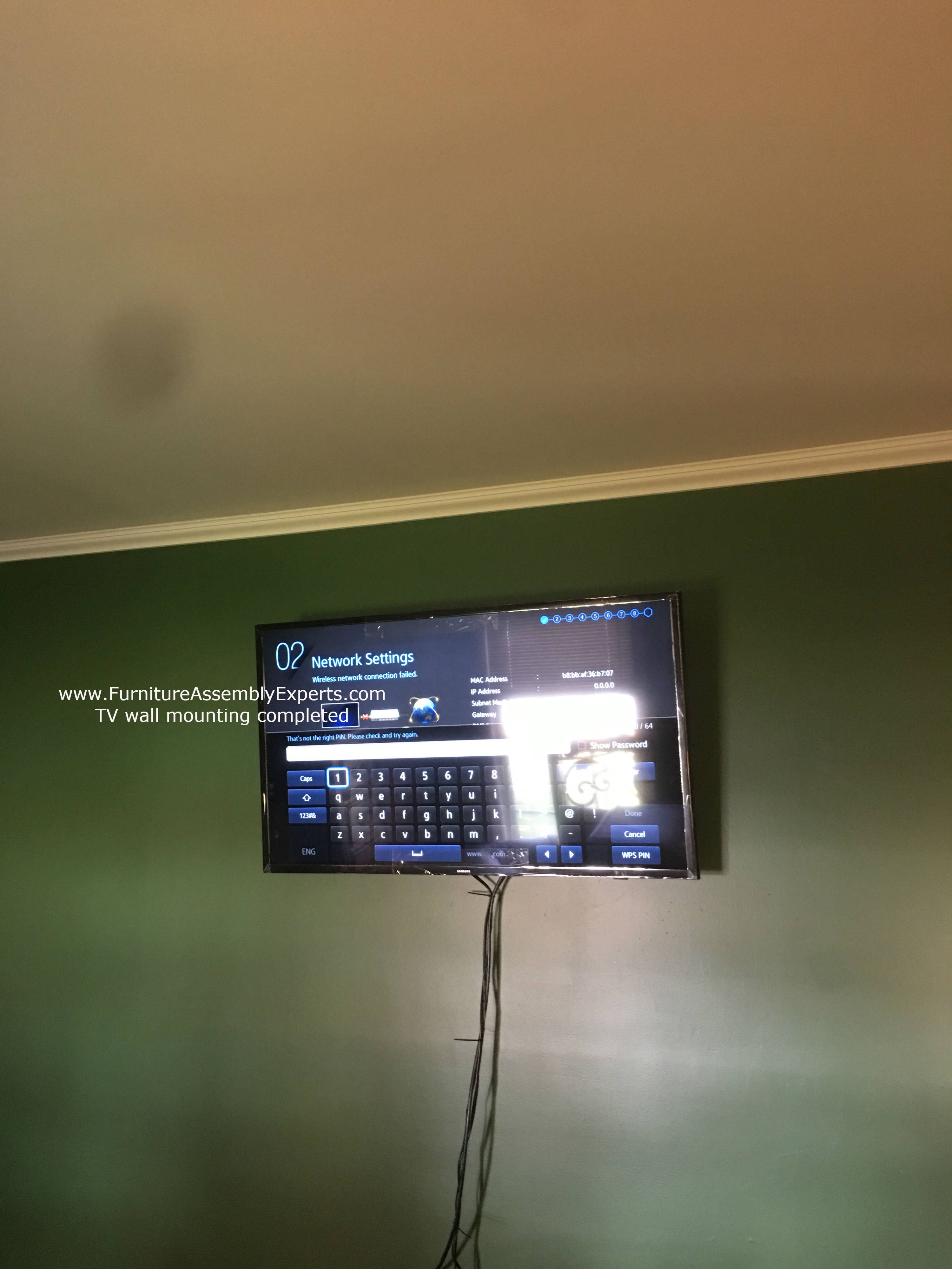 TV wall installation service in California MD