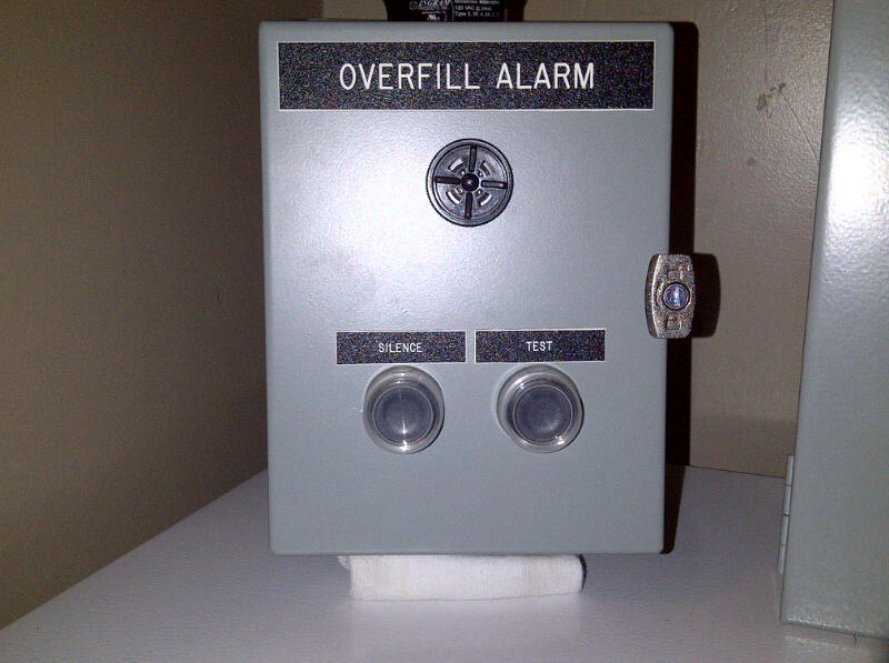 remote overfill alarm w/test button