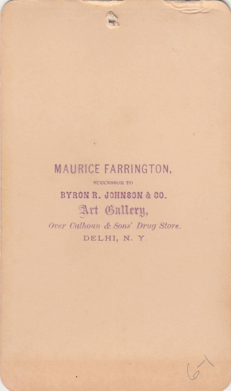 Maurice Farrington, photographer of Delhi, NY