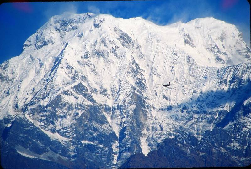 Annapurna and plane