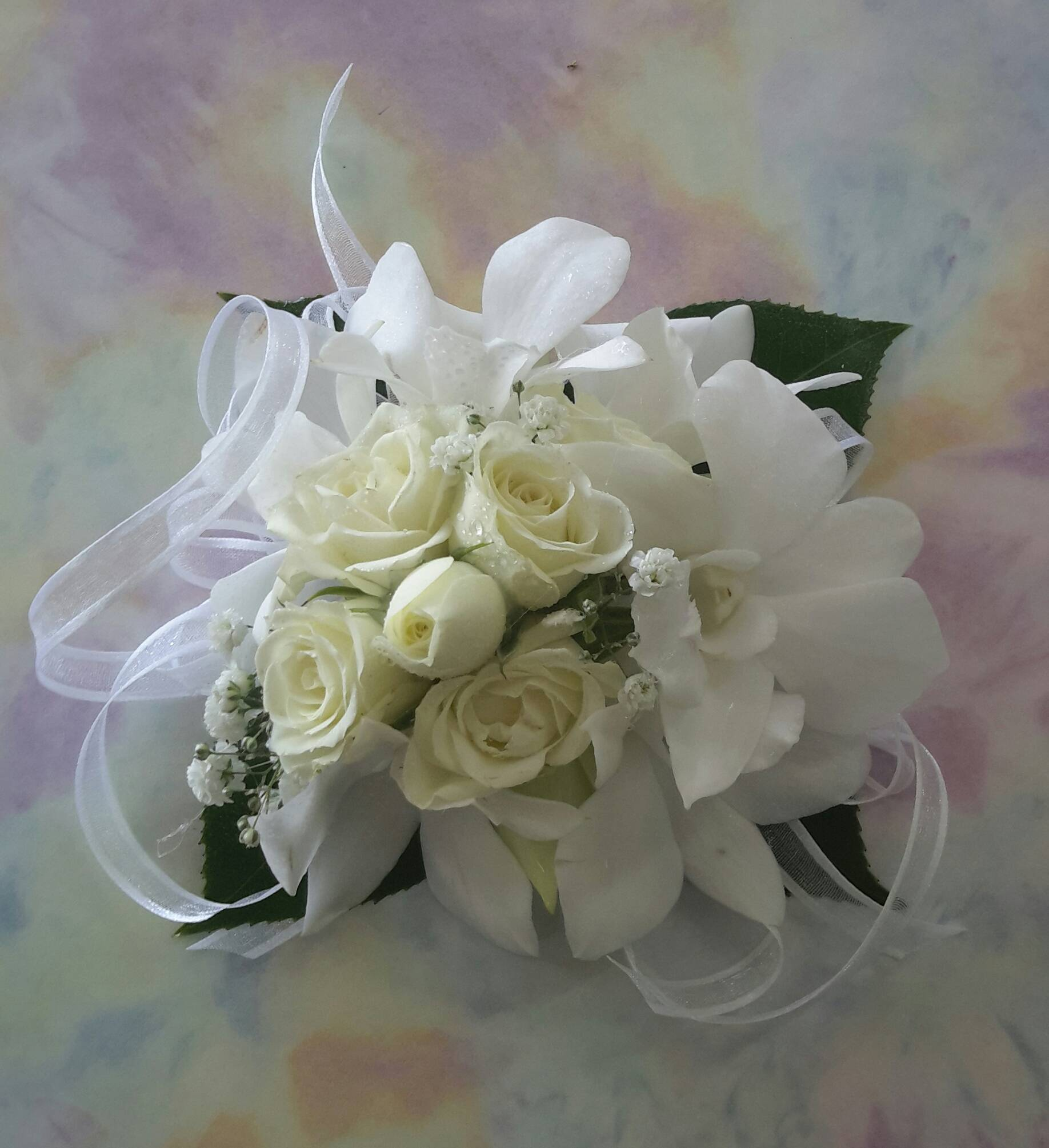 White Roses and White Orchids