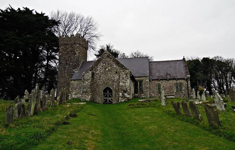 Penrice Church - heading back to the coast path