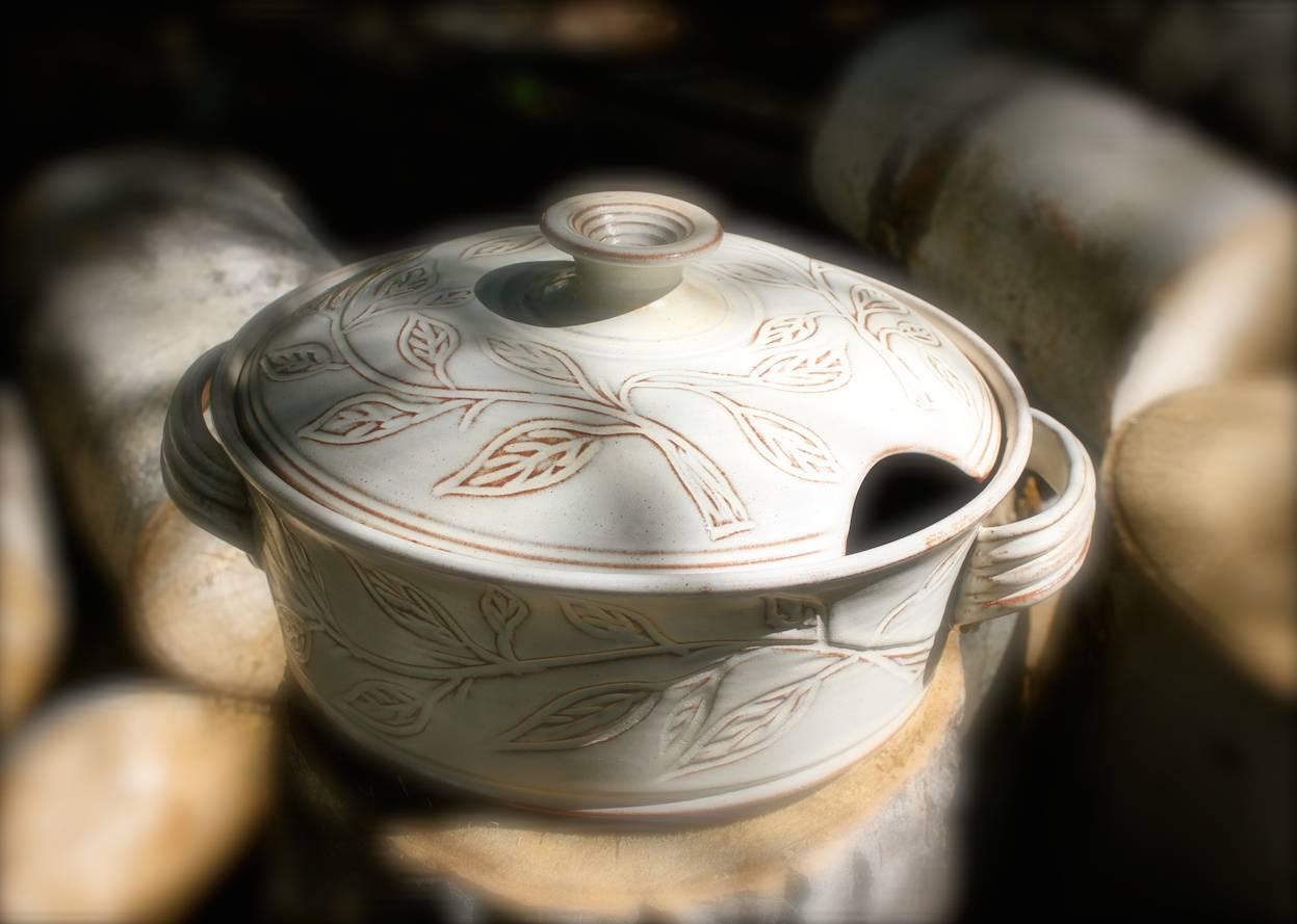 Antique White Casserole Dish