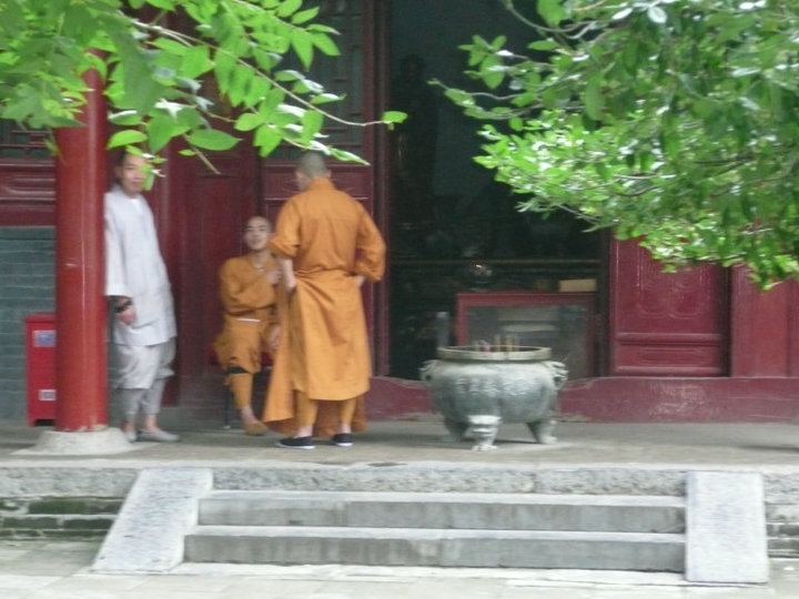Monks in the Temple