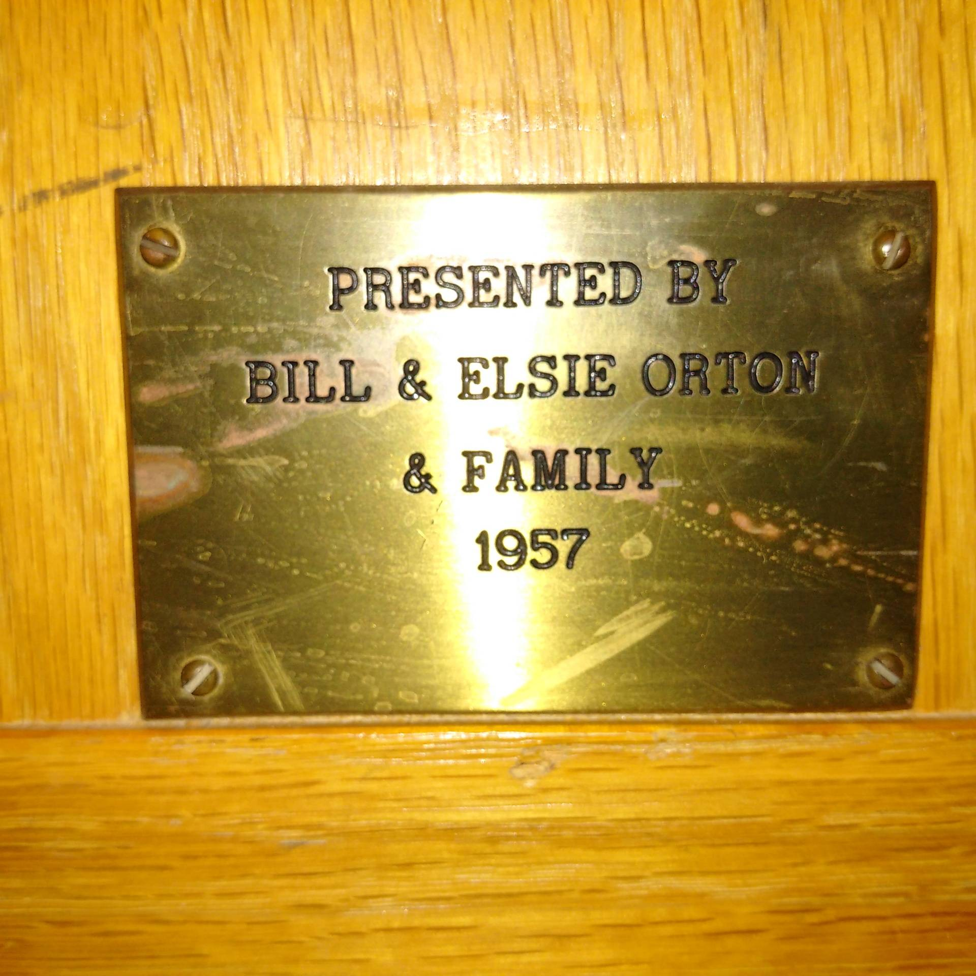 Bill and Elsie Orton & Family 1957