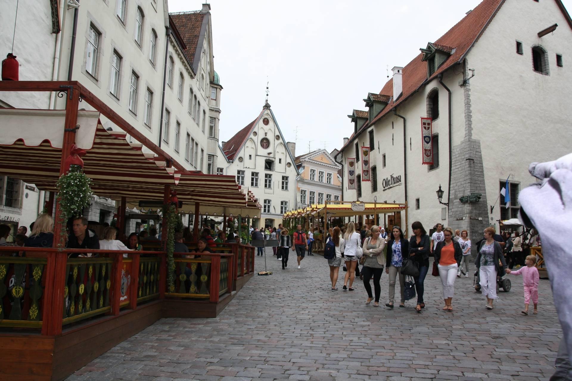 Centre of Old Town, Tallinn, Estonia