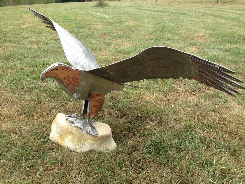 Stainless and Copper Eagle