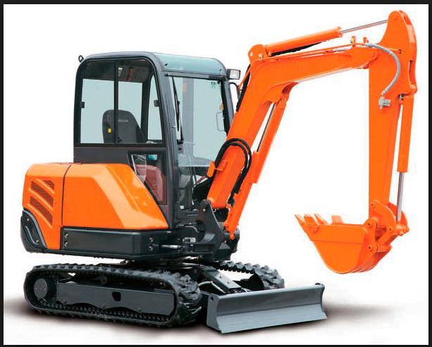 Hitachi Mini and Mid Excavators