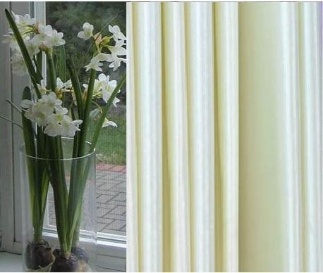 Faux Silk Satin Blackout Curtains Pane-96L