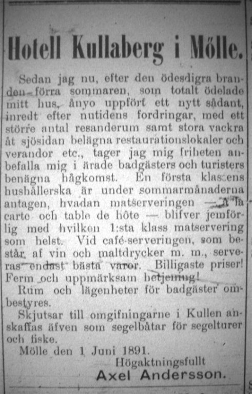 Hotell Kullaberg 1891
