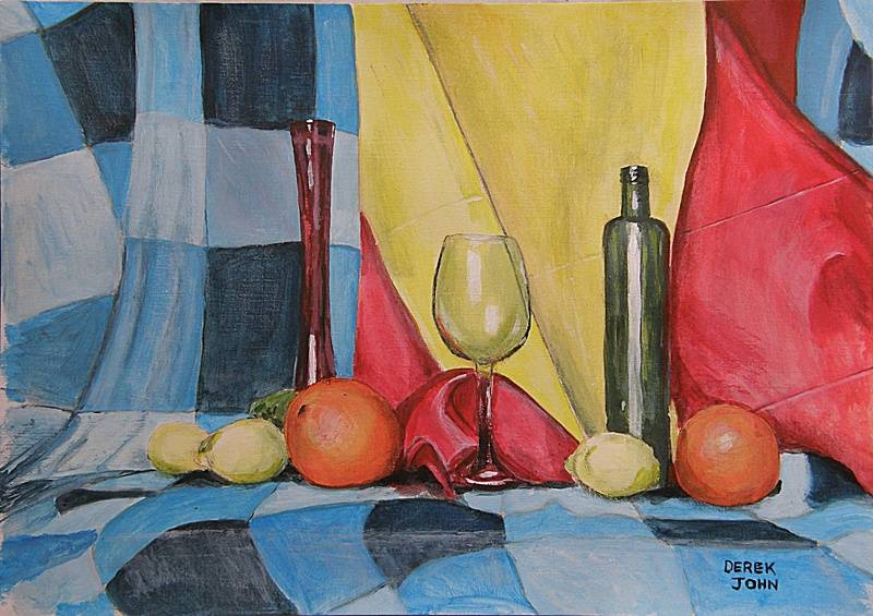 Still Life in Red, Blue and Yellow