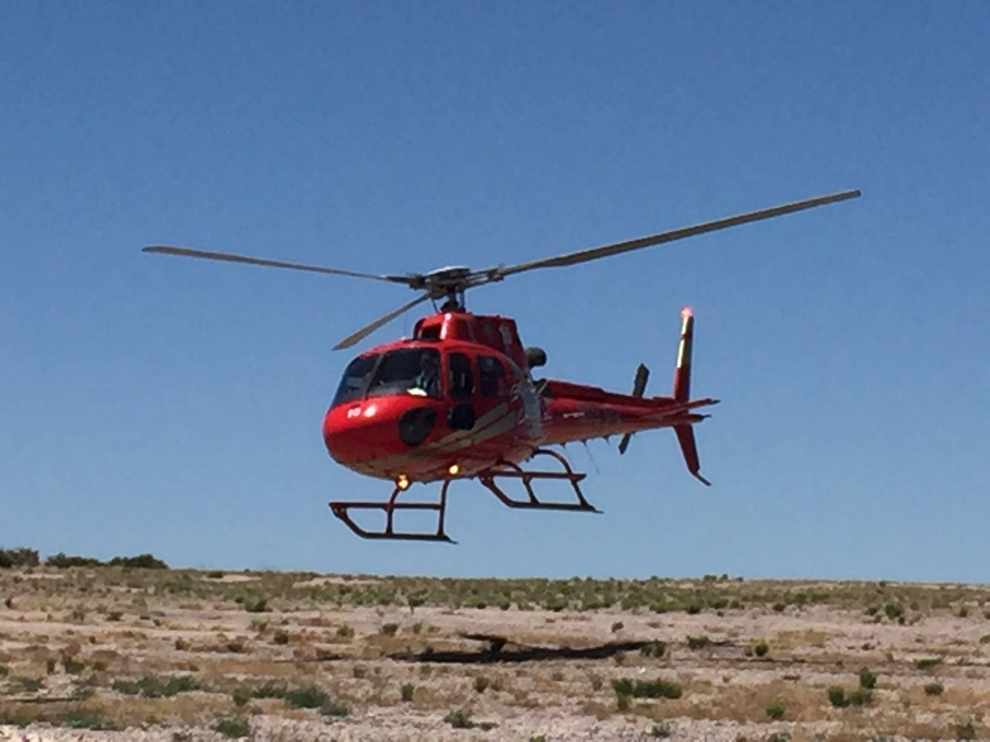 Helicopter Ride to the bottom of Grand Canyon