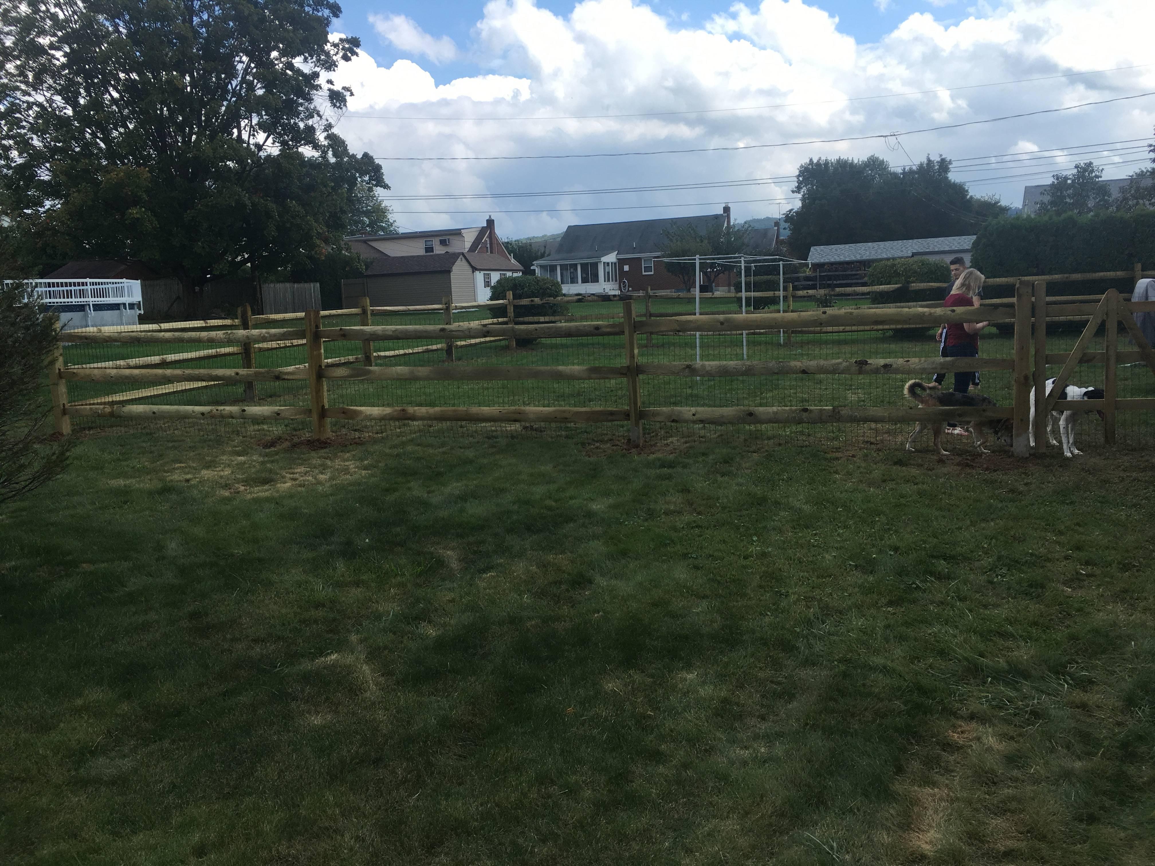 Split Rail Wood Fence