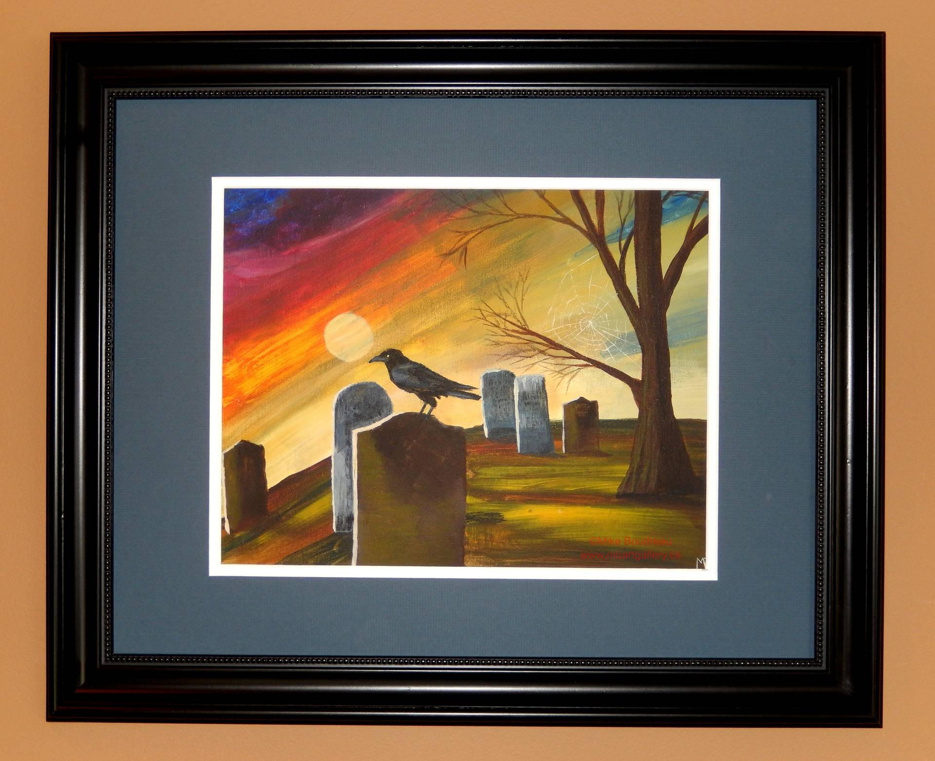 Graveyard Crow, 14x10 SOLD