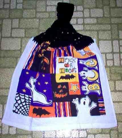 Trick or Treat Halloween Kitchen Towel