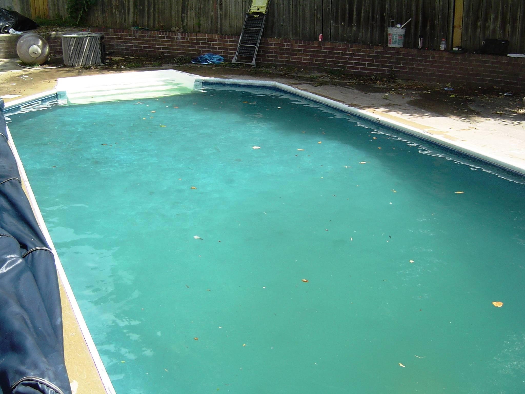 hard water pool