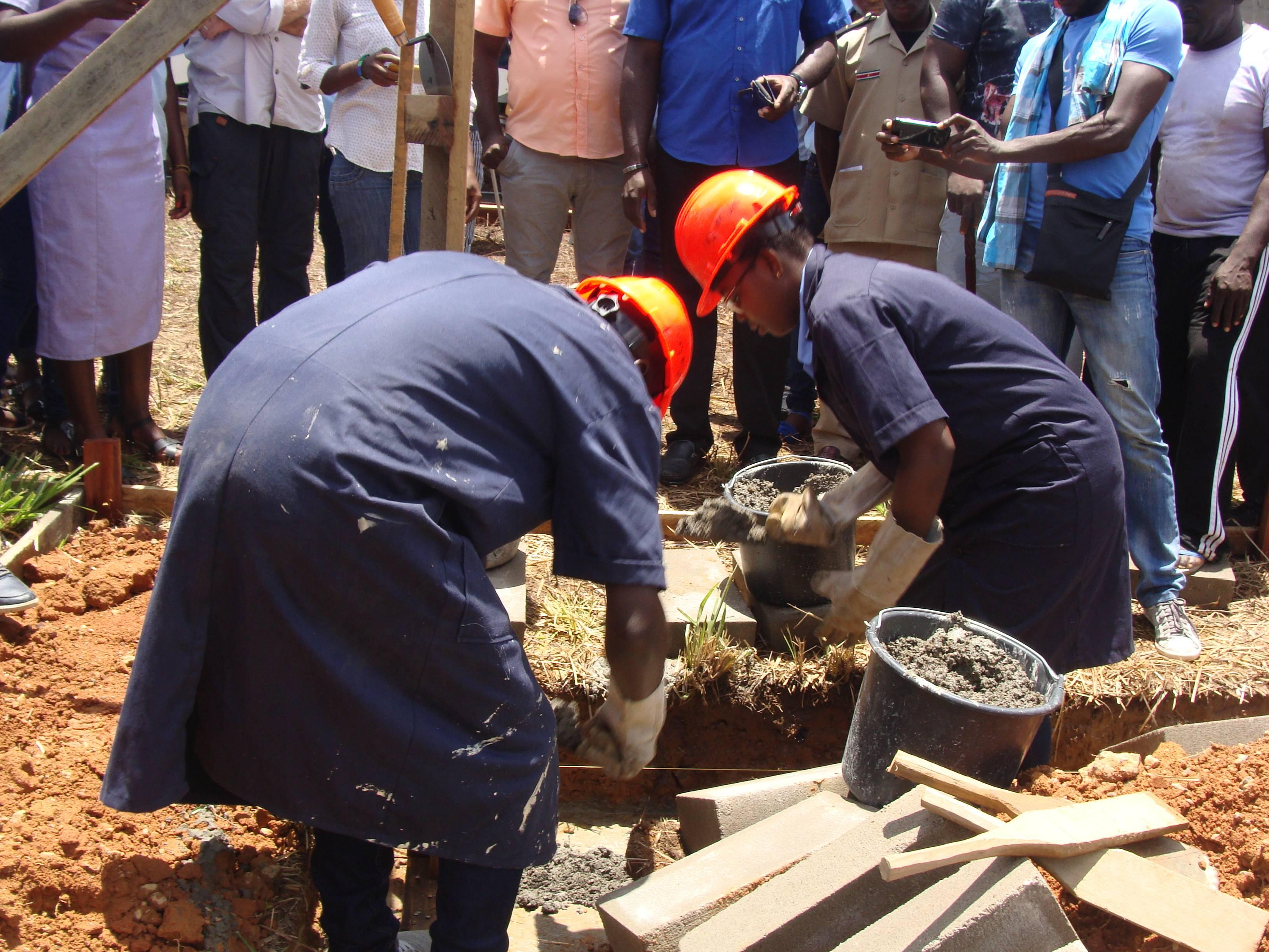 1ste steenlegging