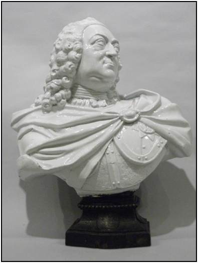 George II resurrected waster bust