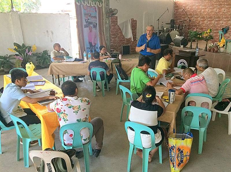Teaching at Bible school