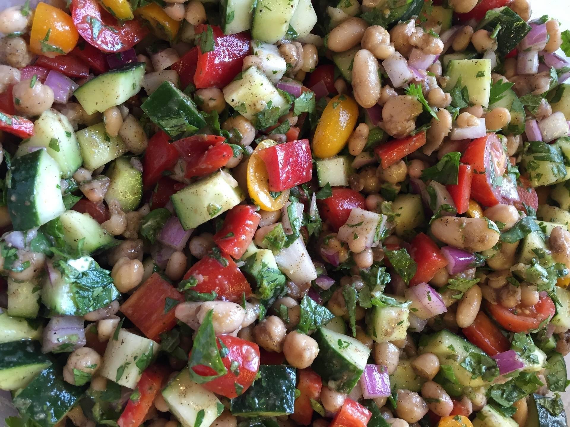 3 Bean Vegetable Salad