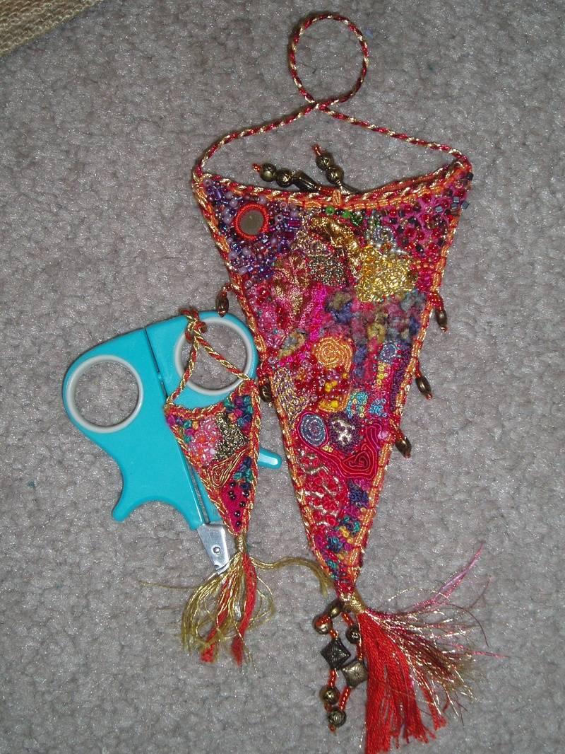 Encrusted Scissor Case and Scissor Identifier Tag