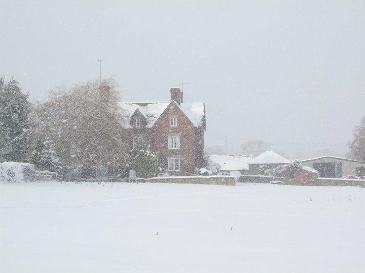 Snowing Over Burley Meadows