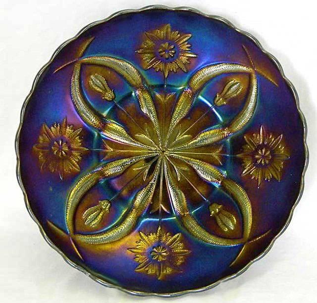 """Flowers Variant 11"""" CHOP PLATE, purple, Brockwitz"""