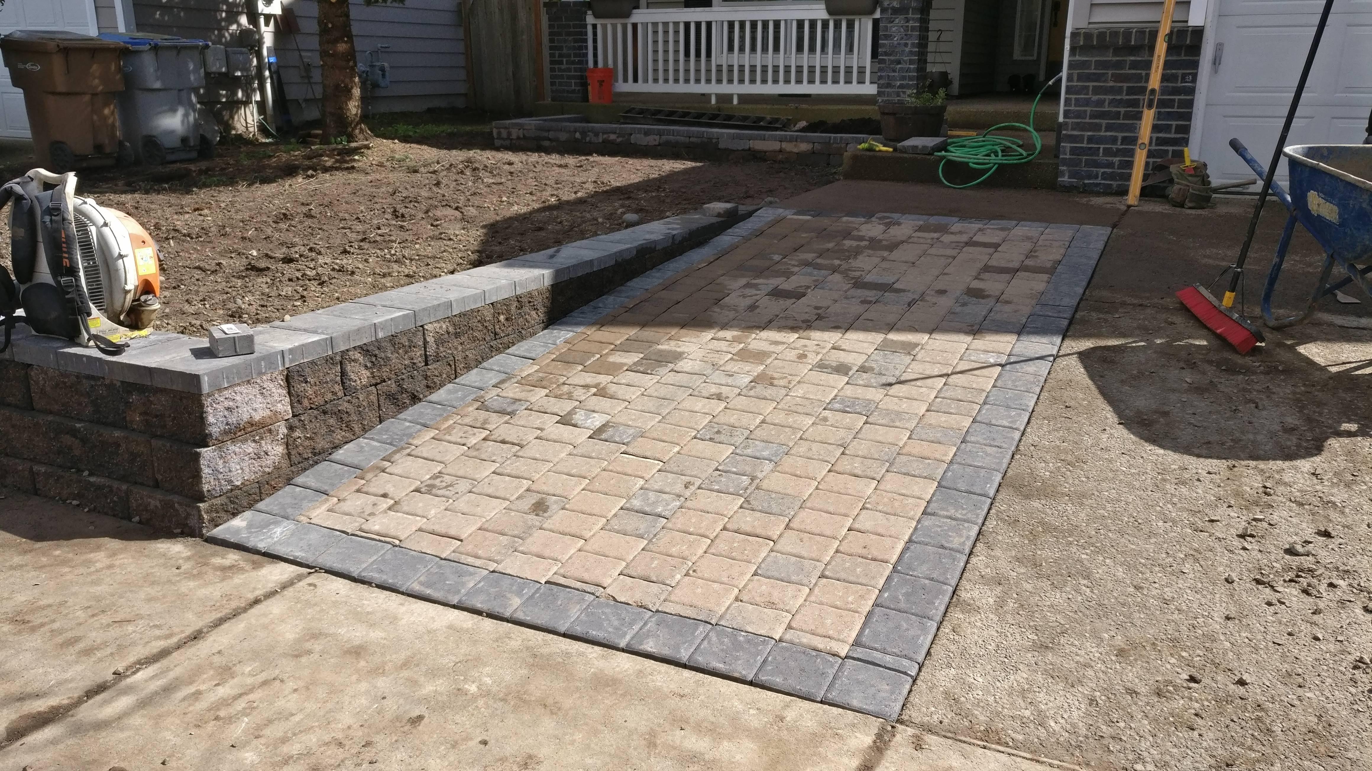 Paver Stones Driveway Installation in Banks Oregon