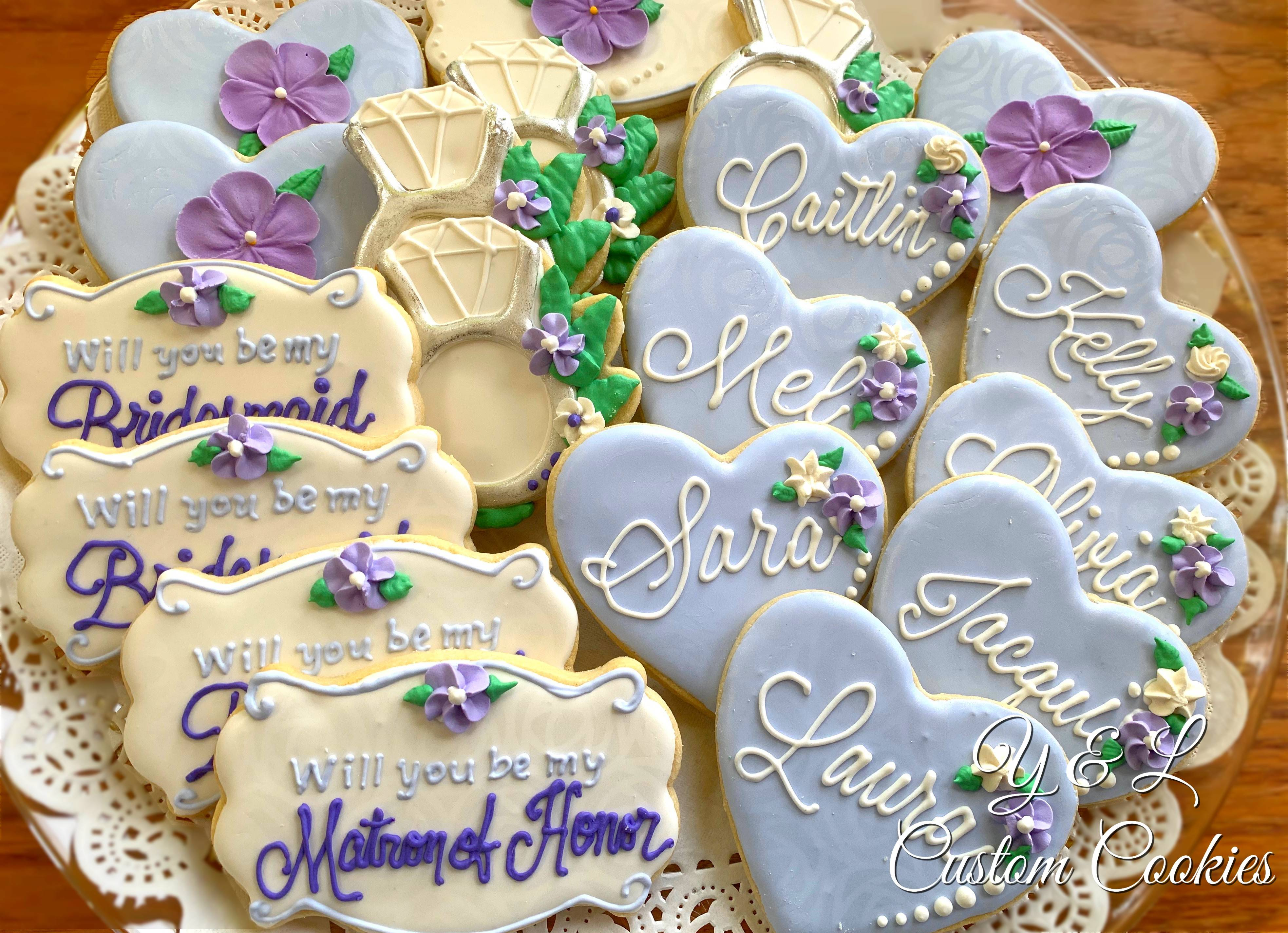 Bridal proposal (Will you be) cookies