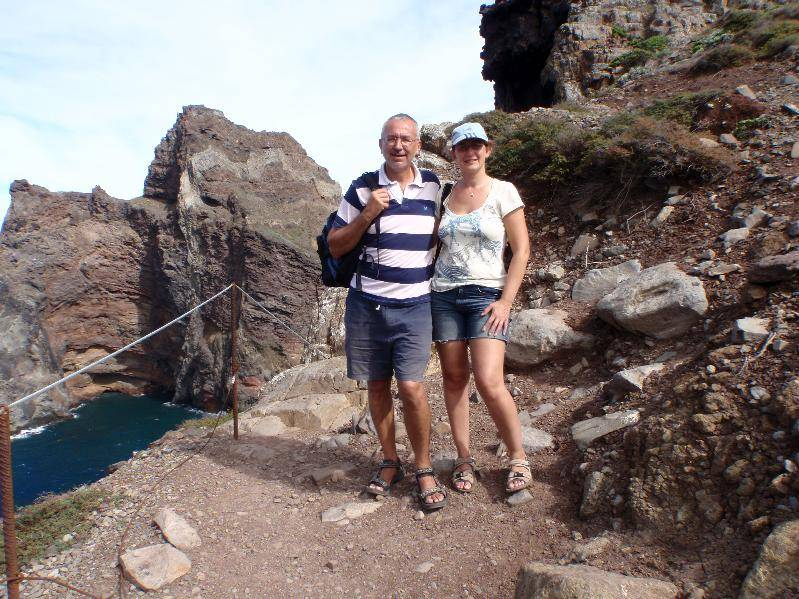 On the walk to Baia d'Abra at the East tip of Madeira