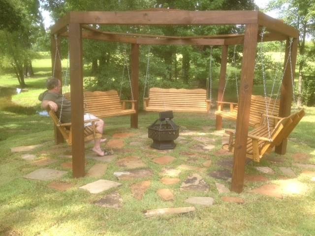 Unique 5 porch swing set