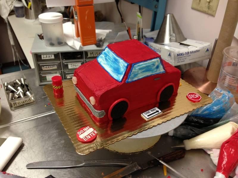 Car Smash Cake