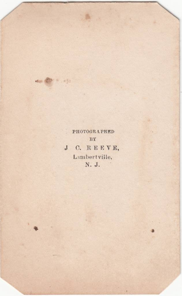 J. C. Reeve, photographer of Lambertville, NJ - back