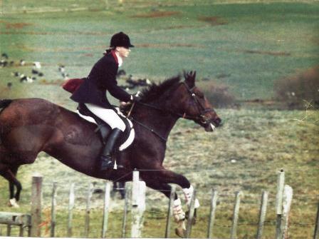 Kathryn and her Gisborne bred mare Lucinda