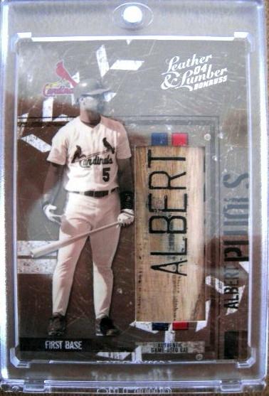 Albert Pujols 2004 Donruss Game Used Bat Card