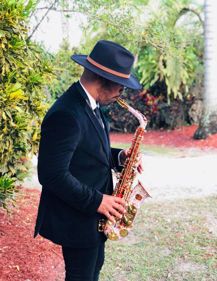 Sax during a cocktail hour