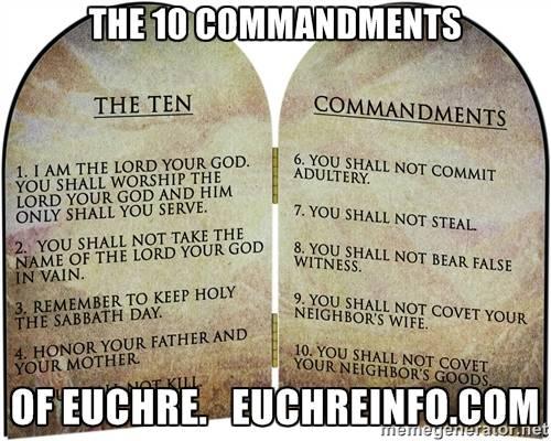 The 10 Commandments of Euchre