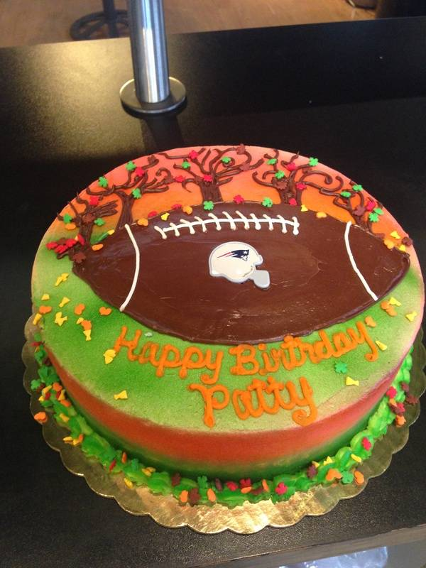 Football In Fall Cake
