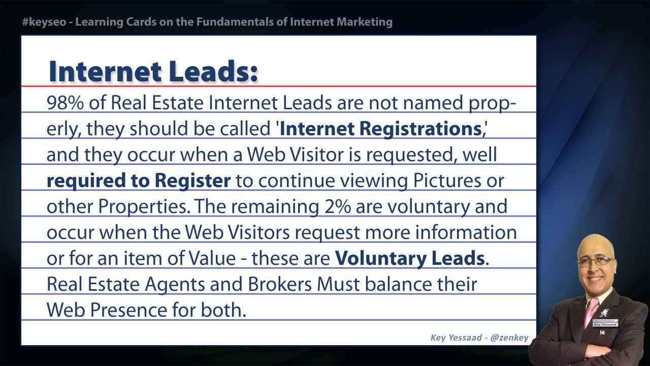 Internet Leads - Real Estate SEO Short Definition