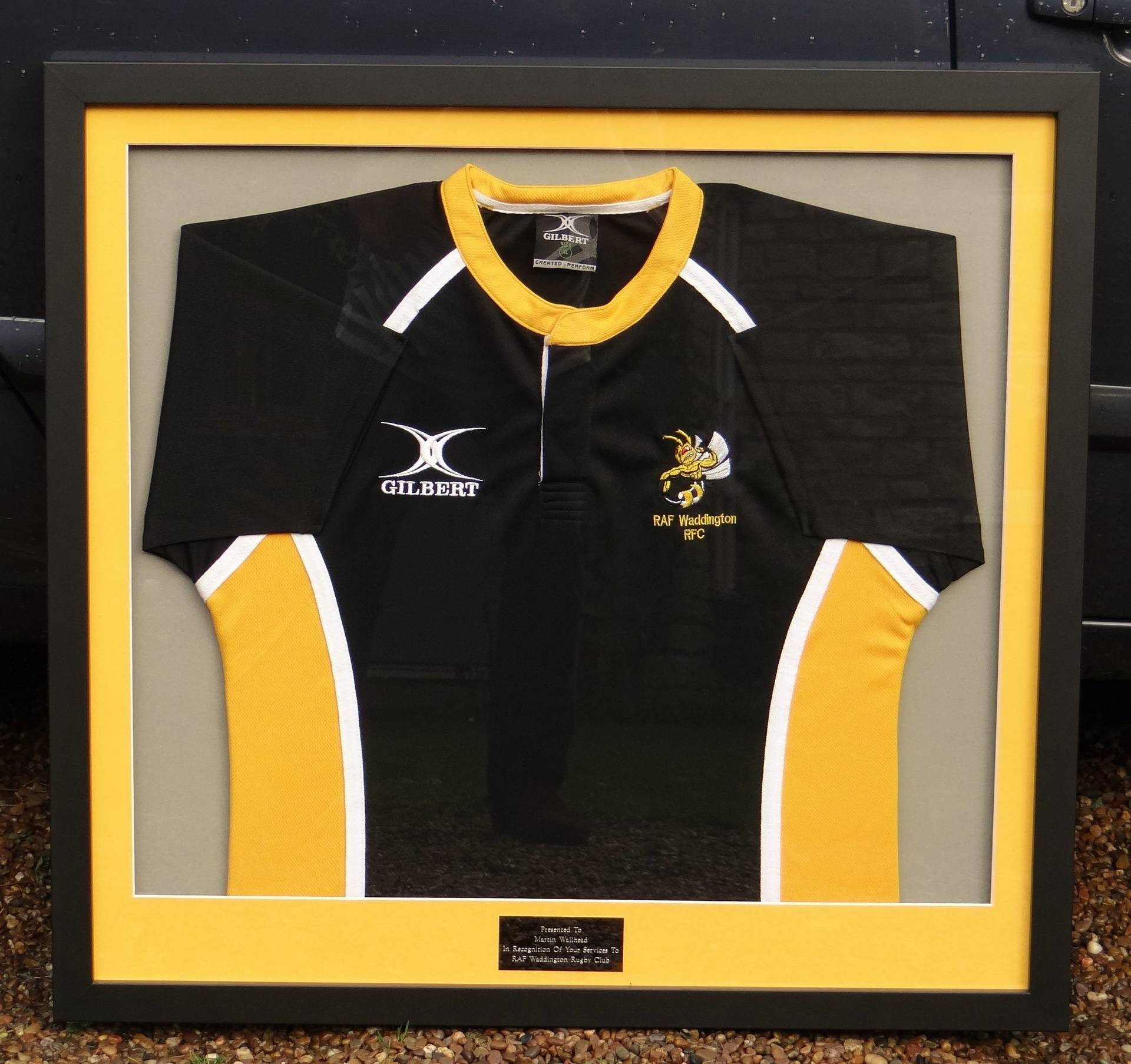 RAF Waddington rugby shirt, Oct 2016