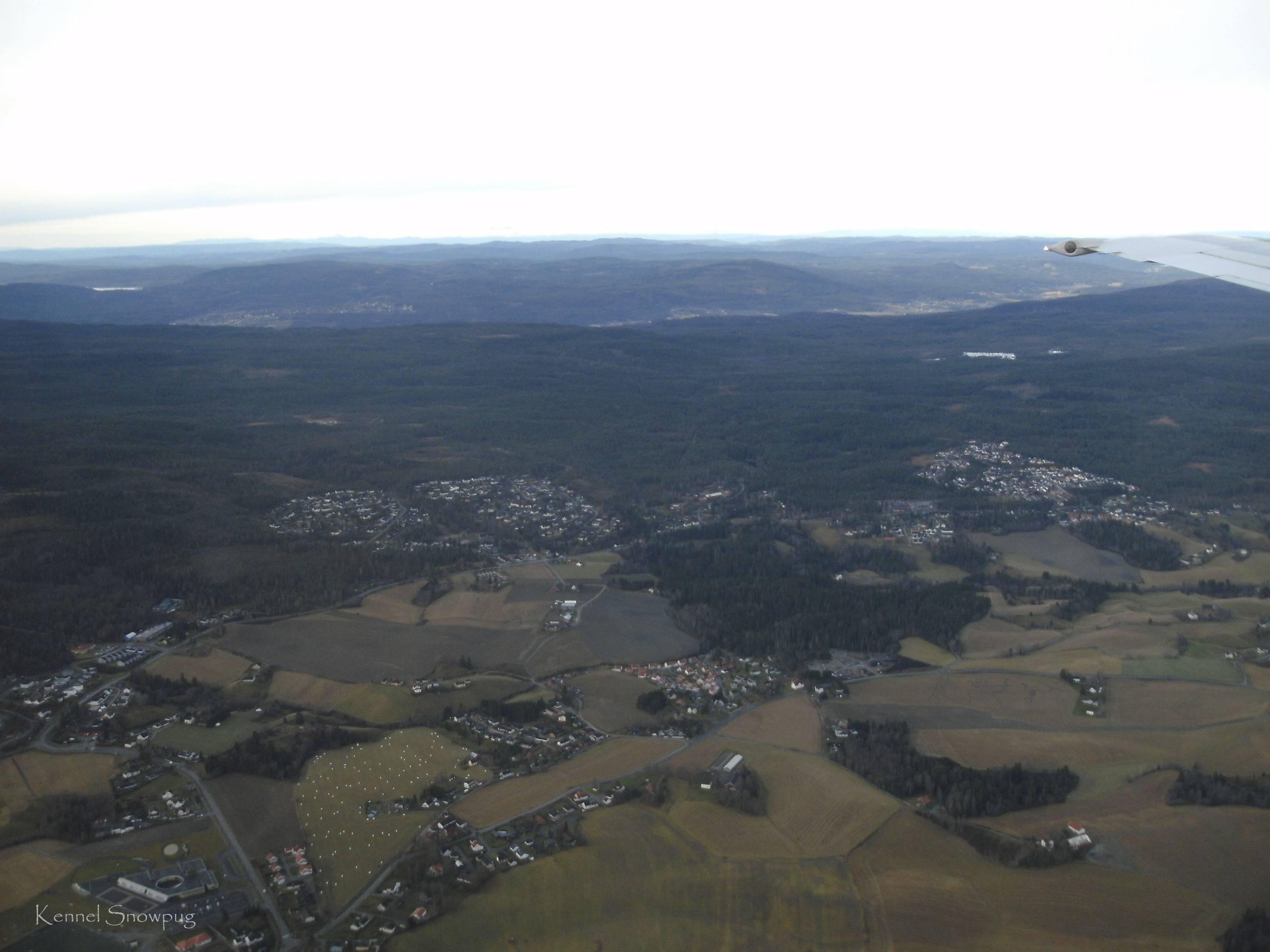 Pp vei inn for landing på Gardermoen
