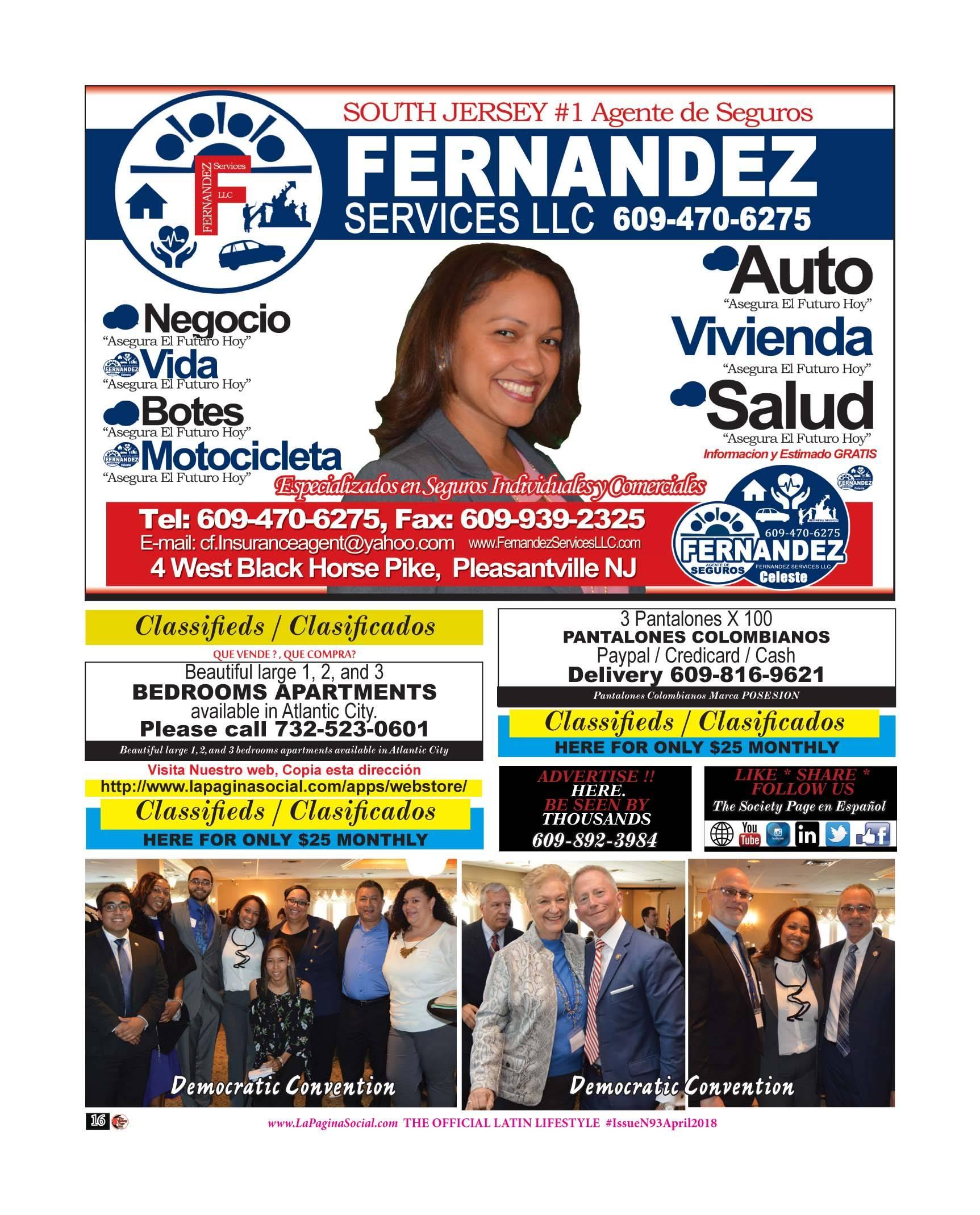 Celeste Fernandez, Classifieds