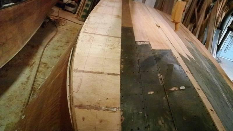 fitting bottom planks