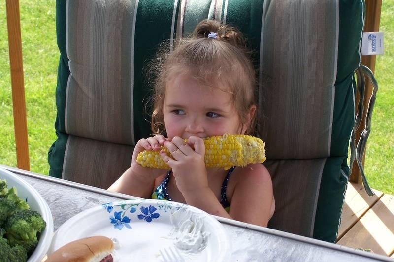 Enjoying a little corn