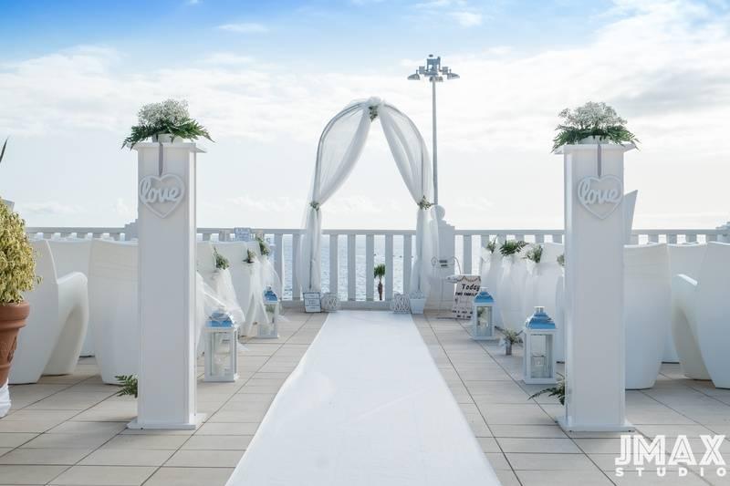 The ceremony area