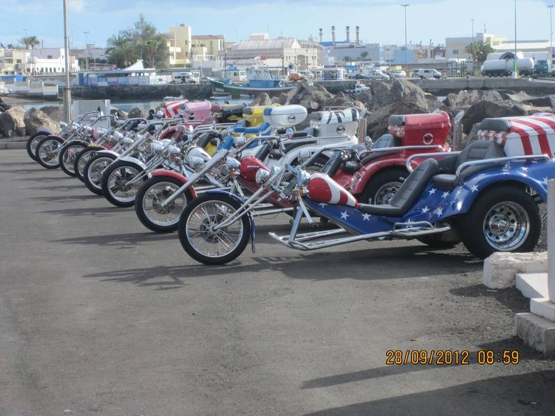 Trikes all on the harbour ready for Aida