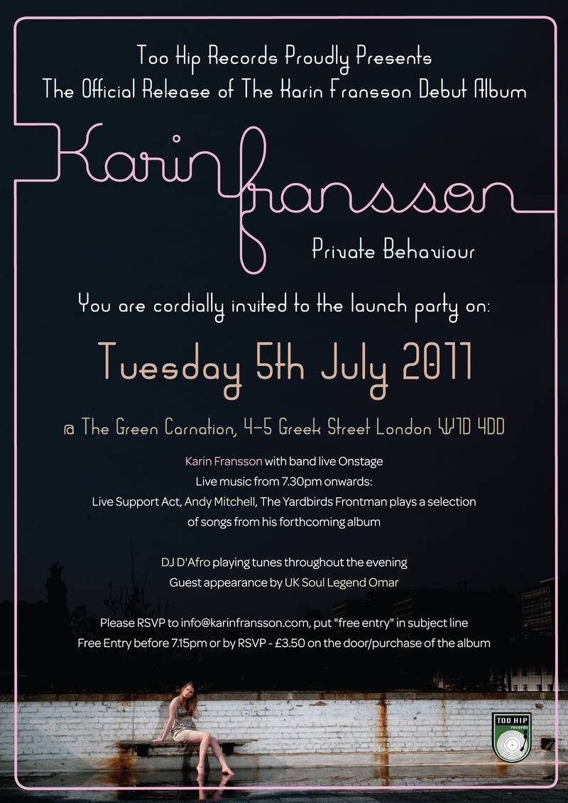 The lush launch flyer!