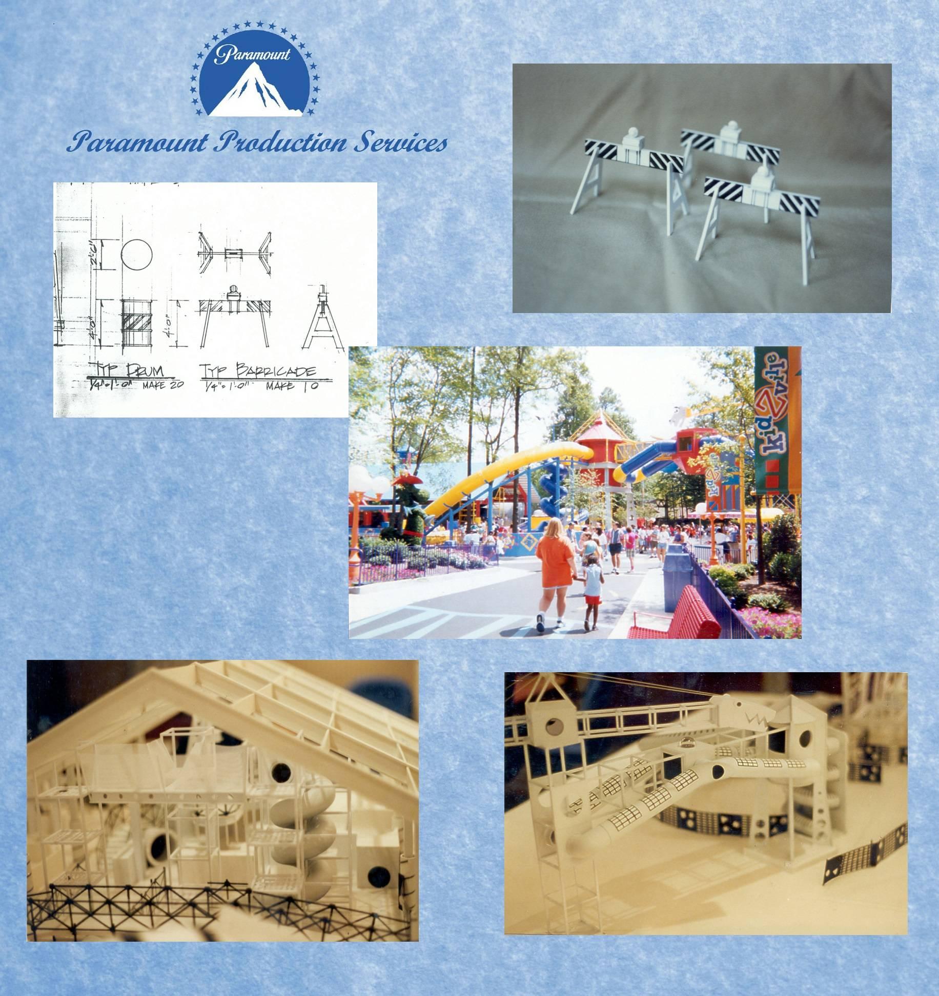 Kidzville play area model, Paramount King's Dominion theme park