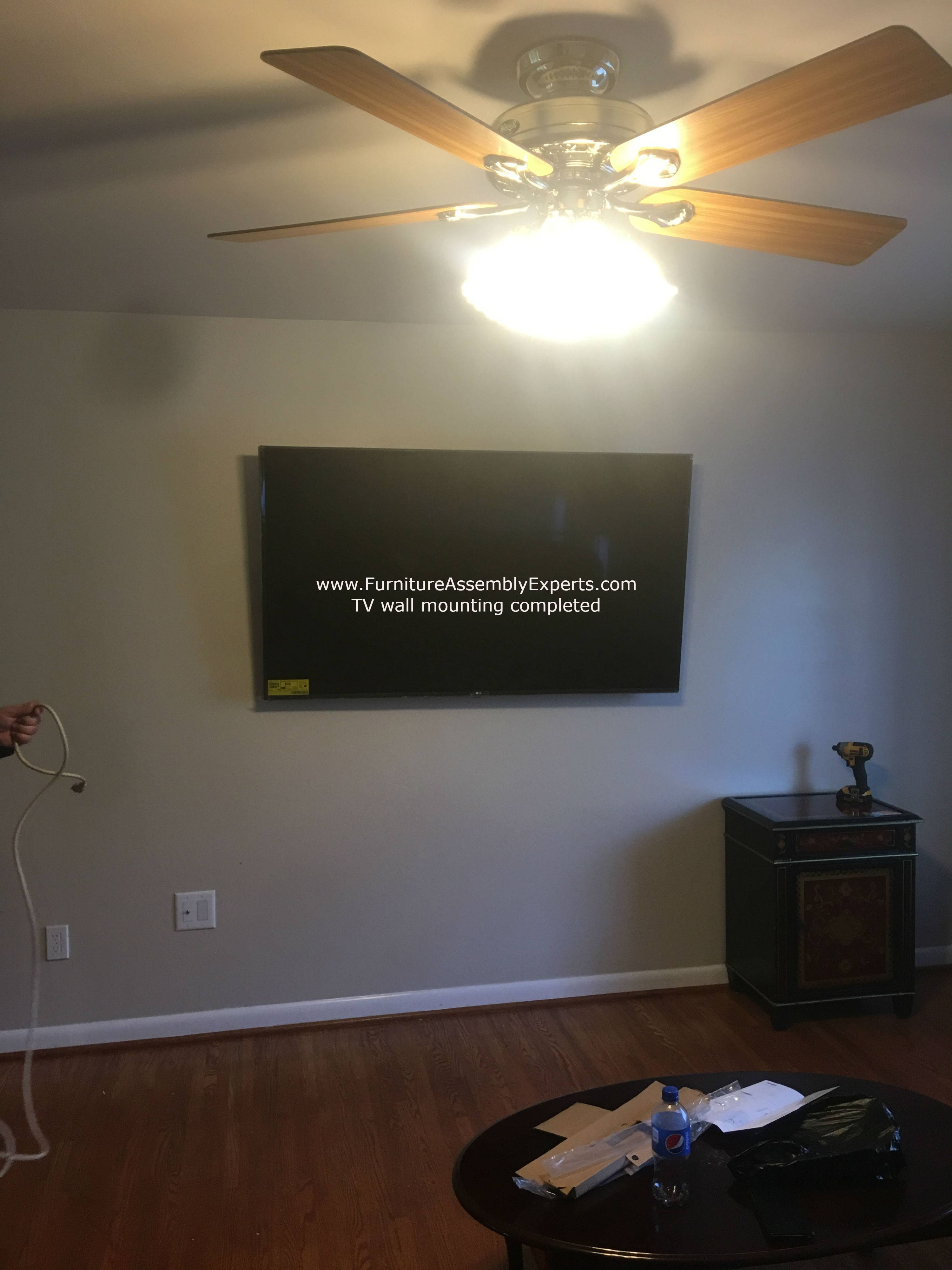 TV wall installation service in Montgomery county MD