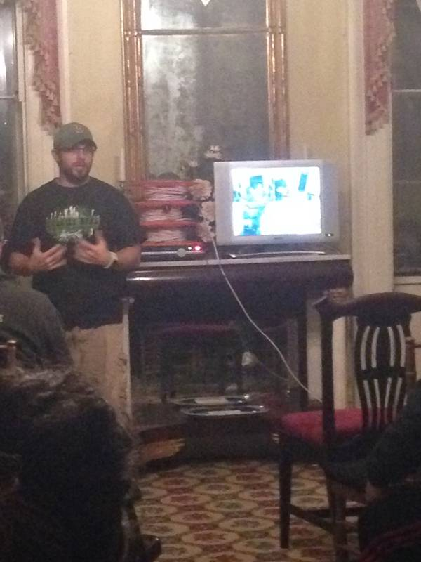 A little display and demonstration from Gary at Ten Broeck Mansion